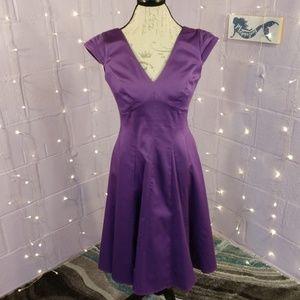 Calvin Klein Purple Cocktail Dress